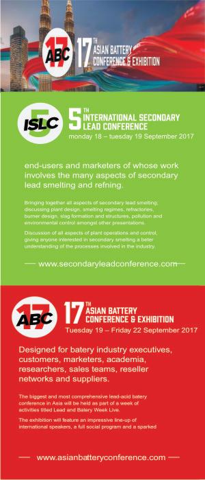 click to enlarge- 10th International Conference on Lead-Acid Batteries - LABAT 2017